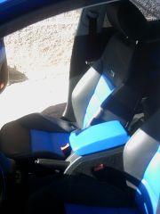 přední sedačky z klasické Octavia 2 upravena do tvaru Octavia 2 RS