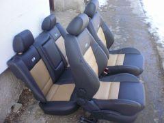 sedačky z Octavia 1, přední jsou upravené do tvaru Fabia 2 RS