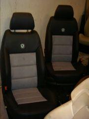 přední sedačky z Octavia 2 upravené do tvaru RS