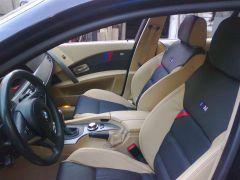 Předni sedačky z BMW 5 ,E-60 upravene do tvaru Octavii 2 RS