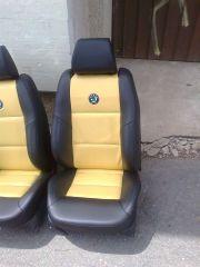 Předni sedačky z Škoda Favorit upravene do tvaru Fabia 2 RS