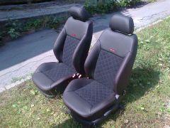Předni sedačka z Octavije 1 upravena do tvaru Octavii 2 RS