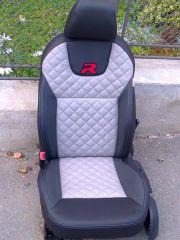 předni sedačka z W Golf 6 upravena do tvaru Octavije 3 Elegance